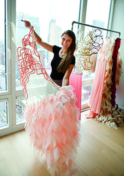 Yvette Elfawal with one of her creations