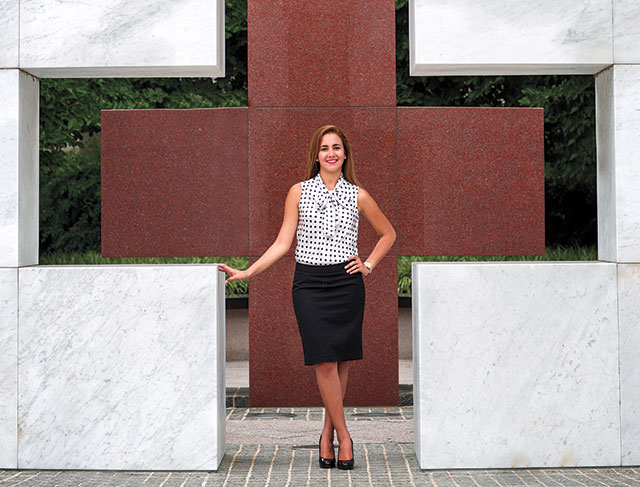 Yenisleidy Simon AC '13, an intern with the International Humanitarian Law unit at the American Red Cross in Washington, D.C., credits a mentor with helping her find a career direction.
