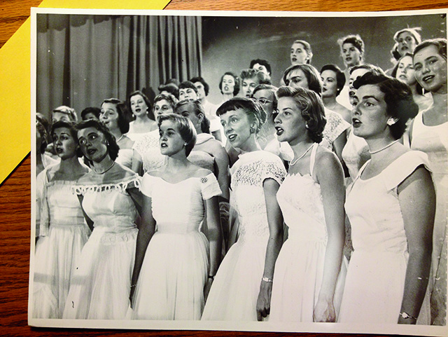 The Smith College Chamber Singers, circa the 1950s.