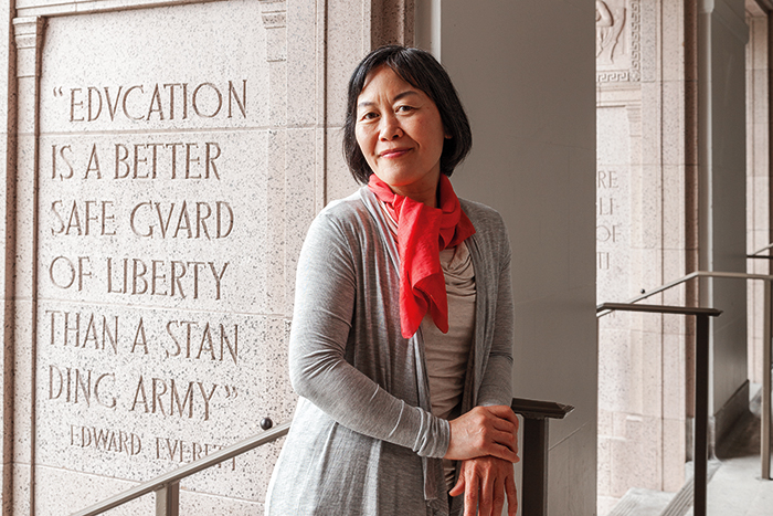 Helen Lee, Smith College Alumni, photographed at her place of employment at New Seasons Market company headquarters in Portland Oregon