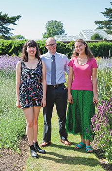 Emma Kelley, Lucy DeBolt and Tim Johnson