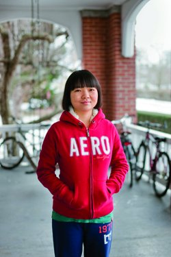 Yingtong Ding '13, from Nanjing, China, hopes to pursue a business career.
