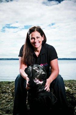 Lisa Horween-Kelly '81 trains dogs to sniff out dangerous glucose levels.