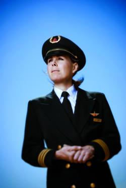 Julie Bowers '94 is a first officer at Delta Air Lines.