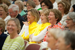 Alumnae enjoy the '60s and '70s panel at Reunion, May 20.