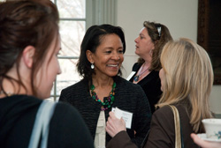 Alumnae at networking event