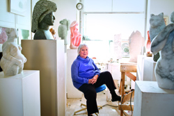 Borgatta in her studio