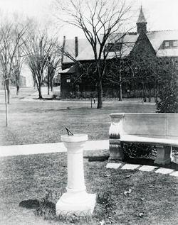 The originall Smith College sundial was a gft of the class of 1883.