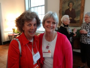 "Our Reunion Co-Chairs, Alice Watson Houston and Mimi Kenower Dyer, ""shadowed and shared"" as the class ahead of us, '58, enjoyed their 55th reunion, May 24-26. As guests of the class of '58, we wore their red hats and ribbons. But we are Ever Green to our corps! And to our core!"