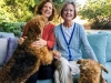 Charlotte Frieze and Christy Jones Bittenbender together at Charlotte's home in Malibu, CA